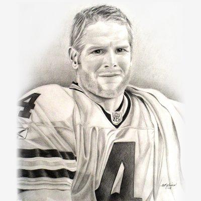 Brett Favre - Pencil Portrait