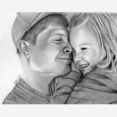 Father & Daughter Pencil Portraits