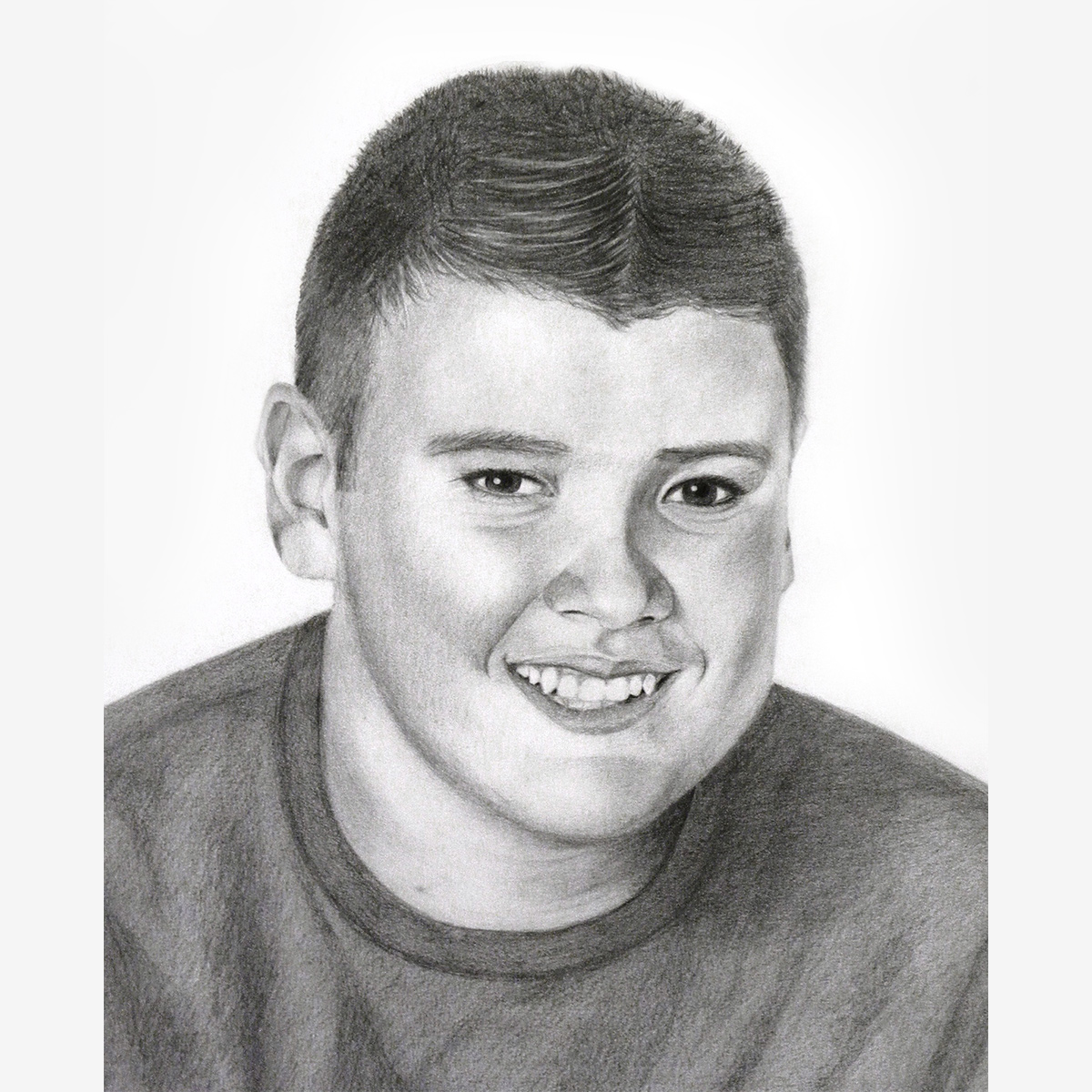 Pencil Portrait of Young Man