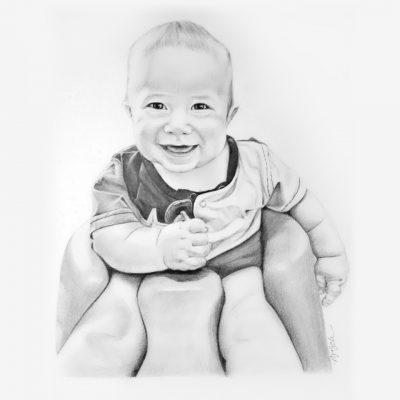 Baby Pencil Portraits
