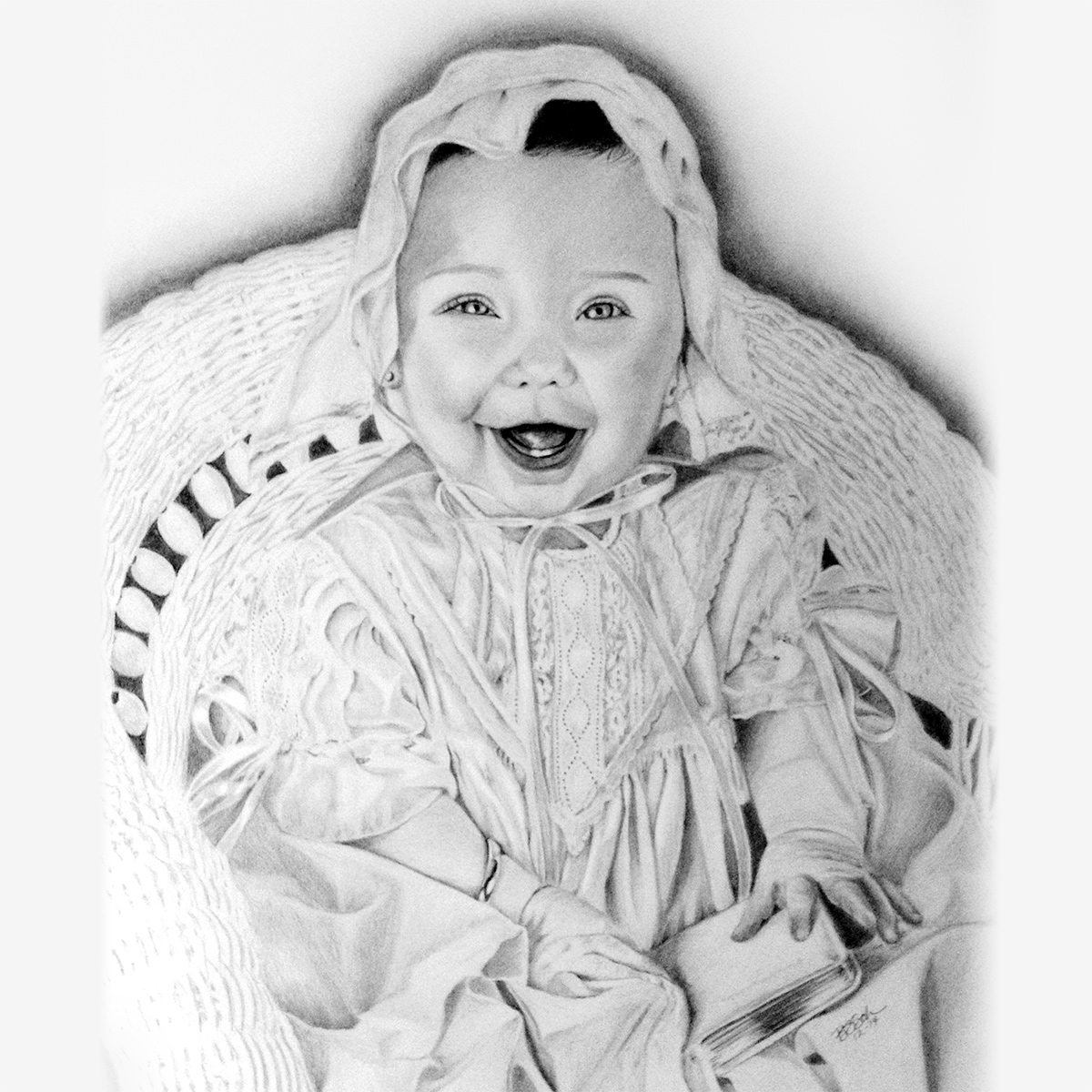 Toddler Pencil Portraits - baby, children