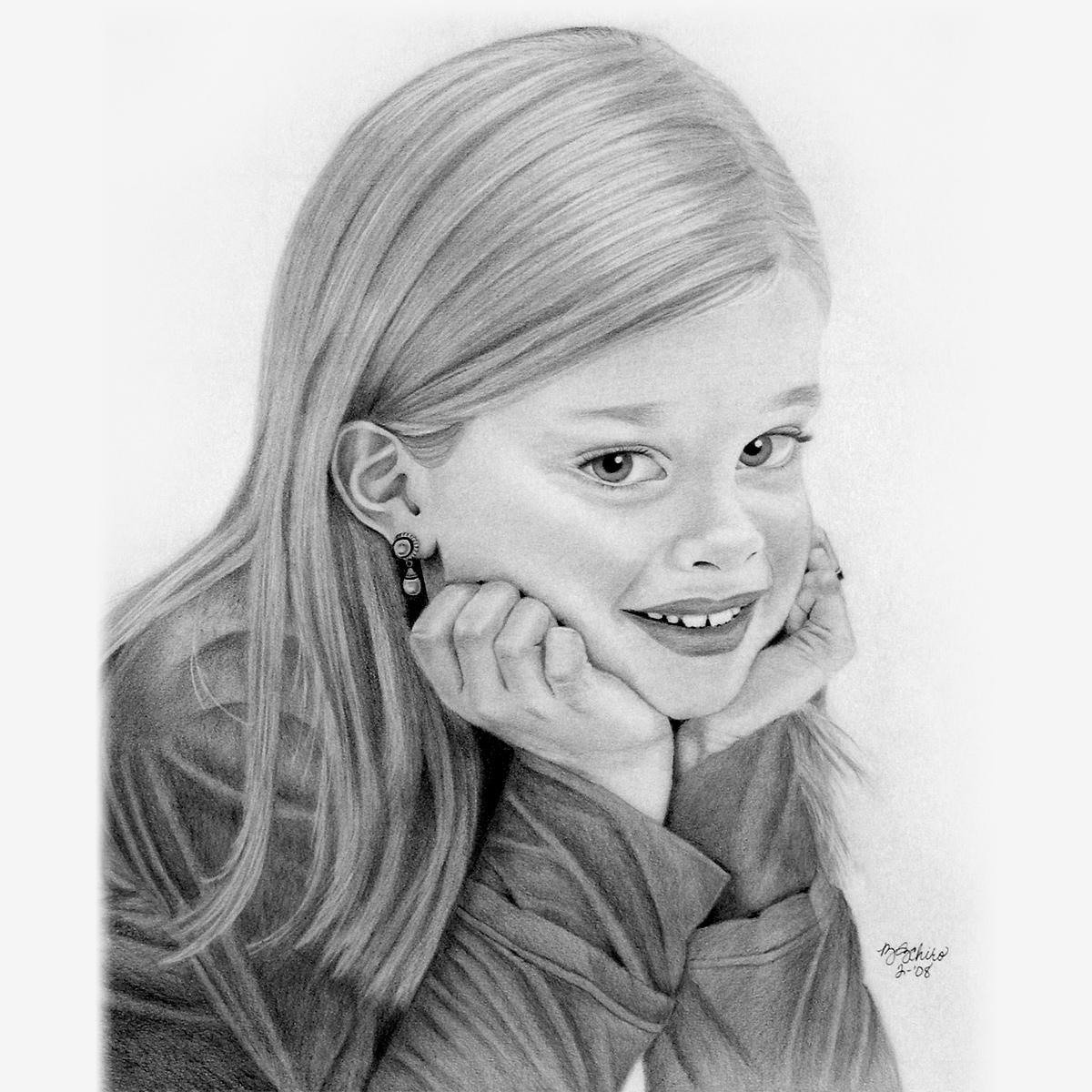 Pencil Portraits Children