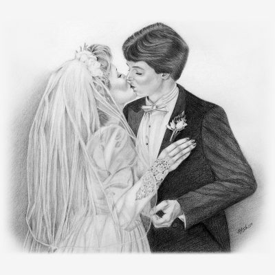 Wedding Pencil Portraits