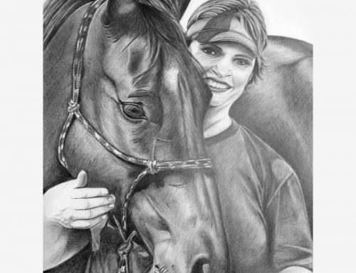 Woman & Horse Pencil Portrait